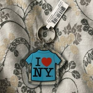 I LOVE NY Blue T-Shirt Keychain!